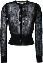 Alexander McQueen wide waistband cardigan - women - Cotton/Polyamide/Spandex/Elastane - S