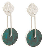 "Novica As Is Sterling ""Opposites Attract"" Dangle Earrings"