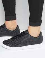 Asos Lace Up Sneakers in Black Pyramid