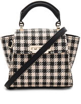 Zac Posen Eartha Iconic Mini Gingham Straw Top Handle