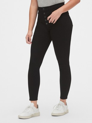 Gap High Rise Button-Fly Favorite Jeggings with Secret Smoothing Pockets