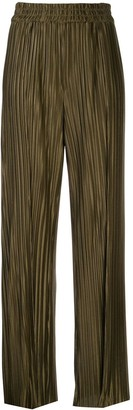 Alice + Olivia Pleated Wide Leg Trousers