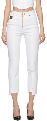 Versace Jeans Couture White Cropped Jeans