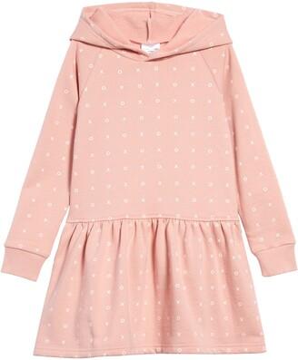 TINY TRIBE Hooded Drop Waist Sweatshirt Dress
