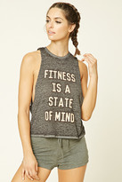 Forever 21 FOREVER 21+ Active State of Mind Tank Top