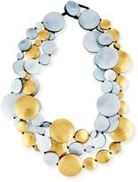 Viktoria Hayman Triple-Strand Mother of Pearl Doublets Necklace