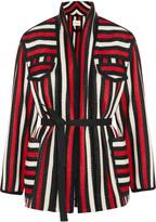 Etoile Isabel Marant Breeda belted striped wool-blend bouclé jacket