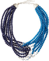 Greenbeads Lapis Twisted Bead Necklace
