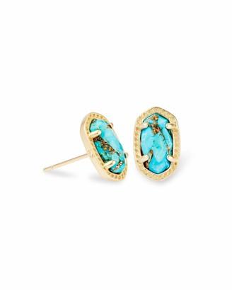 Kendra Scott Emery Stud Earrings for Women Fashion Jewelry 14k Gold-Plated