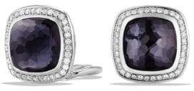David Yurman Albion® Earrings With Black Orchid And Diamonds, 11Mm