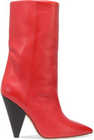 Isabel Marant Lexing Leather Knee Boots - Red