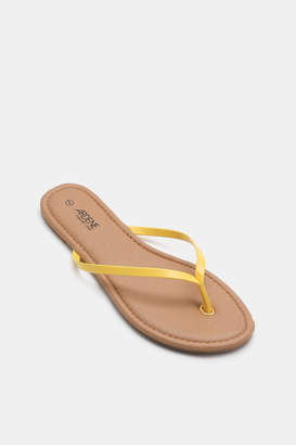 Ardene Basic Faux Leather Flip-Flops