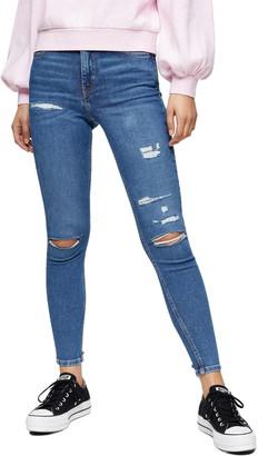 Topshop Jamie Rip & Repair Jeans