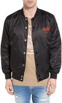 Obey Men's Viktor Satin Bomber Jacket
