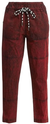 Proenza Schouler White Label Drawcord Crinkle Cotton Pants