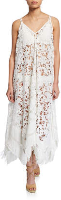 Ramy Brook Kasia Lace Coverup Dress with Fringe
