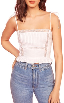 Reformation Mason Tie Strap Crop Tank Top