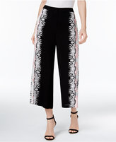 Y-yigal YYIGAL Printed Cropped Wide-Leg Pants, a Macy's Exclusive Style