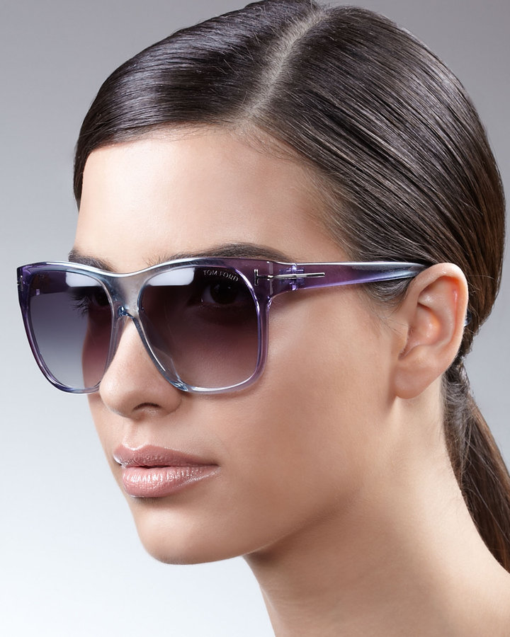 Tom Ford Gradient Sunglasses, Blue/Purple