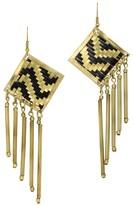 Mela Artisans Lolita in Black/Gold Earrings