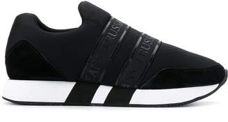 Trussardi Jeans logo strap sneakers