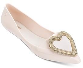 Melissa Women's Pointy Heart Flats