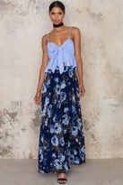Lucy Paris Floral Burnout Maxi Skirt