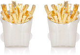 Jan Leslie Men's French-Fries Cufflinks-SILVER