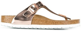 Birkenstock Metallic Thong Strap Sandals