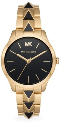 Michael Kors Runway Mercer Three-Hand Two-Tone Stainless Steel Bracelet Watch