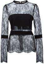 Ungaro sheer lace blouse