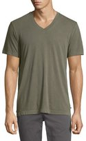 James Perse V-Neck Short-Sleeve Knit Tee, Taupe
