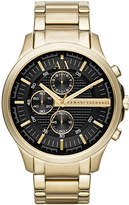 Armani Exchange A|X Men's Gold-Tone Stainless Steel Bracelet Watch 46mm AX2137