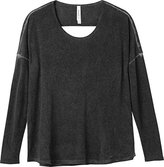 RVCA Juniors Sutherland Loose Fit Top with Cut Out Back