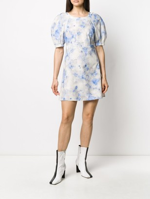 Baum und Pferdgarten cloud print puff-sleeve dress