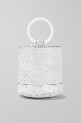 Simon Miller Bonsai 15 Mini Cracked-leather Bucket Bag - White