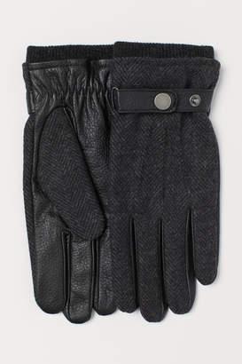 H&M Leather Gloves - Black