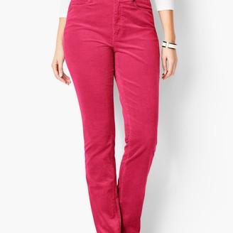 Talbots High-Rise Straight-Leg Pants - Curvy Fit - Cords