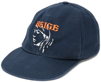 Off-White Beige embroidered baseball cap