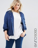 Asos Soft Luxe Bomber With Rib Trim