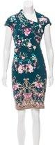 Roberto Cavalli Floral Print Sheath Dress