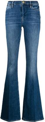 Frame Slim-Fit Flared Jeans