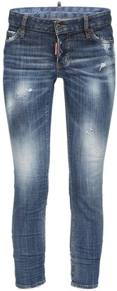 DSQUARED2 Jennifer Crop Stretch Denim Skinny Jeans