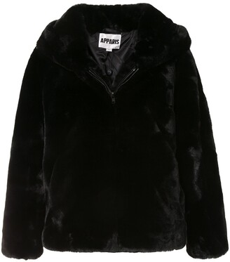 Apparis Chase hooded faux-fur coat