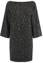 "Oasis Sequin yarn dress [span class=""variation_color_heading""]- Multi Black[/span]"
