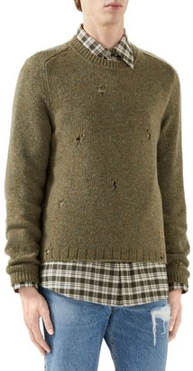 Gucci Felted Wool Jumper With Square G