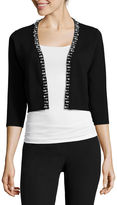 Ronni Nicole RN Studio by 3/4-Sleeve Pearl-Trim Sweater Shrug