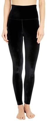 Beyond Yoga Velvet High Waisted Midi Leggings (Black) Women's Casual Pants