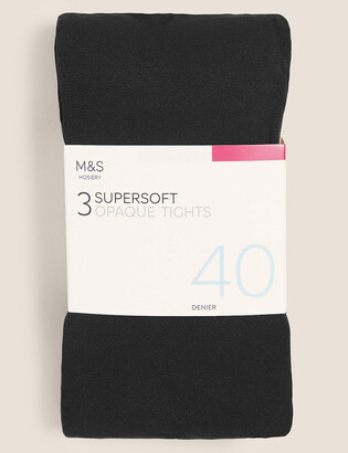 Marks and Spencer 3 Pair Pack 40 Denier Supersoft Opaque Tights