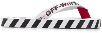 Off-White Graphic Print Flip Flops